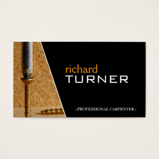 Carpenter and Flooring Business Cards