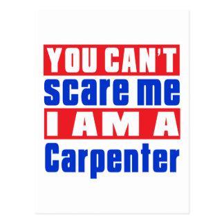 Carpenter and Master Carpenter scare designs Postcard