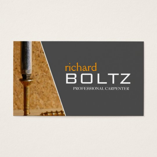 Carpenter Business Cards Zazzle