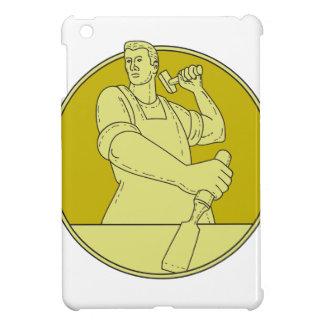 Carpenter Carver Chisel Circle Mono Line iPad Mini Case
