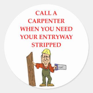 CARPENTER CLASSIC ROUND STICKER