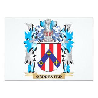 "Carpenter Coat of Arms - Family Crest 5"" X 7"" Invitation Card"
