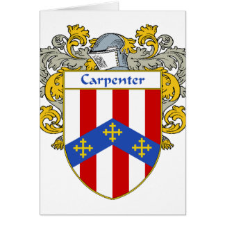 Carpenter Coat of Arms/Family Crest (Mantled) Greeting Cards