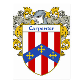 Carpenter Coat of Arms/Family Crest (Mantled) Post Card