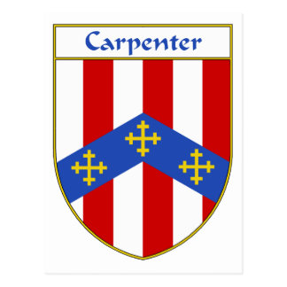 Carpenter Coat of Arms/Family Crest Post Card