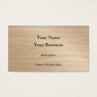 Carpenter Construction Handyman Wood Grain Business Card
