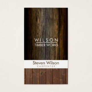 Carpenter Construction Woodwork Wood Builder Business Card