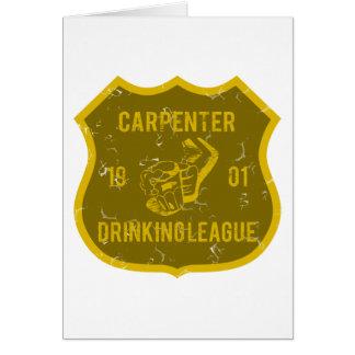 Carpenter Drinking League Card