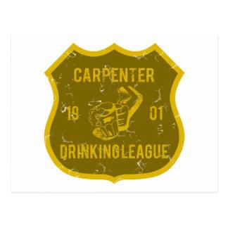 Carpenter Drinking League Postcard