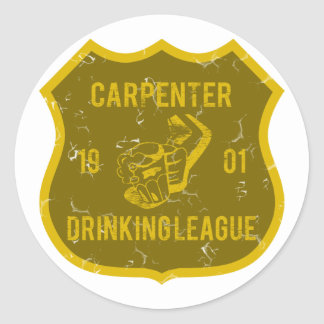 Carpenter Drinking League Round Sticker