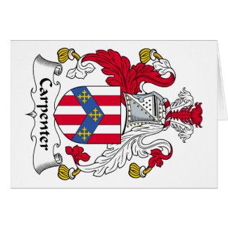 Carpenter Family Crest Greeting Card