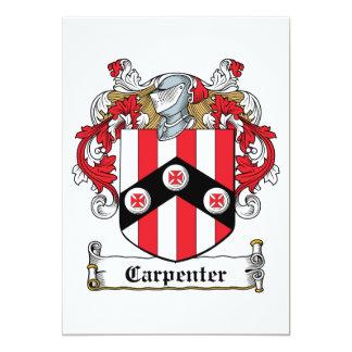 Carpenter Family Crest Personalized Invite