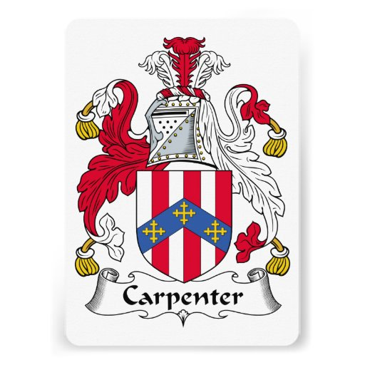 Carpenter Family Crest Personalized Announcements