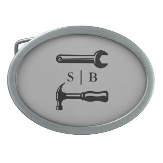 Carpenter | Handyman Custom Initials Oval Belt Buckles