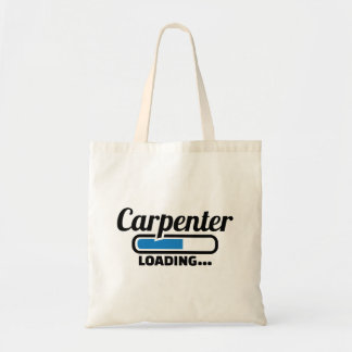 Carpenter loading tote bag