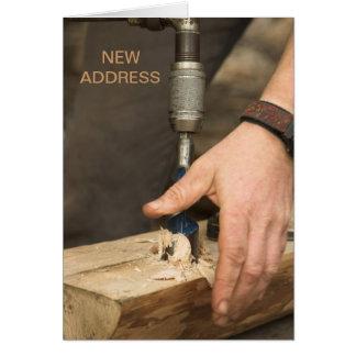 Carpenter New Address Card