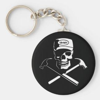Carpenter of the Caribbean Basic Round Button Key Ring