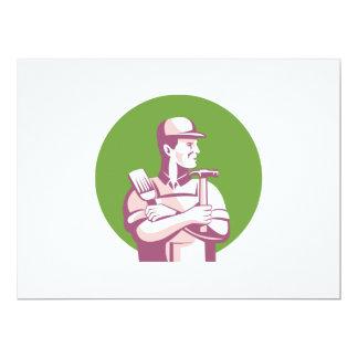 Carpenter Painter Construction Worker 17 Cm X 22 Cm Invitation Card