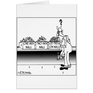 Carpenter & Press On Nails Greeting Card