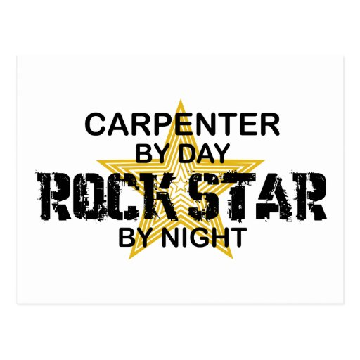 Carpenter Rock Star by Night Postcards