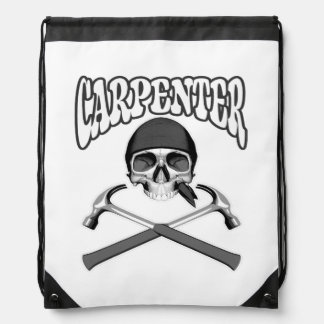 Carpenter Skull Hammers Drawstring Backpacks
