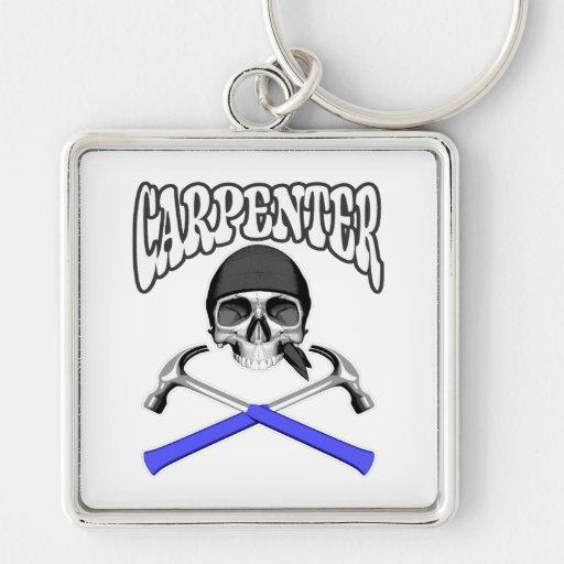 Carpenter Skull Hammers Key Chains