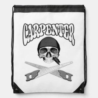 Carpenter Skull Handsaws Drawstring Bags