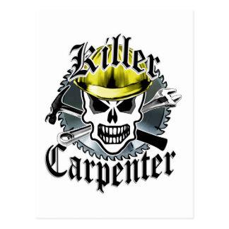 Carpenter Skull: Killer Carpenter Postcard