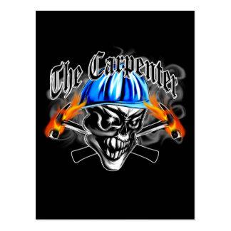 Carpenter Skull with Hard Hat: The Carpenter Postcard