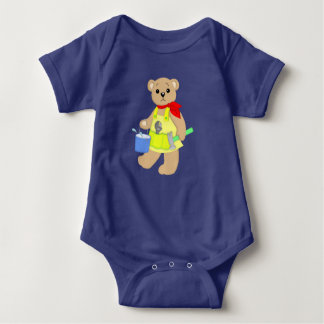 Carpenter Teddy Baby Baby Bodysuit