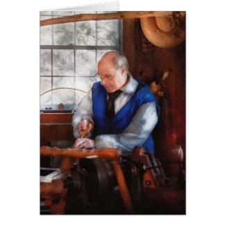 Carpenter - The Woodturner Card