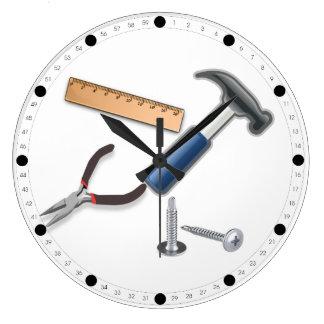 Carpenter Tools Large Clock