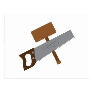Carpenter Tools Postcard