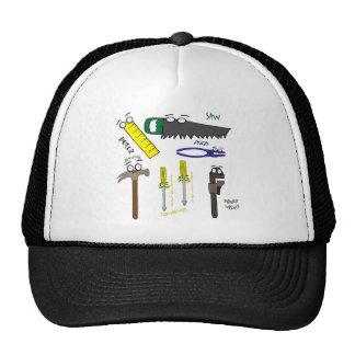 Carpenter Tools Whimsical Cartoon Art Trucker Hat