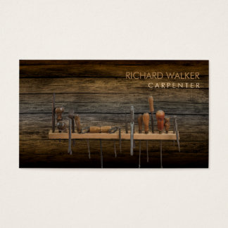 Carpenter Tools Woodworking Professional Wood Business Card