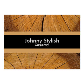 Carpenter wood business stripe pack of chubby business cards