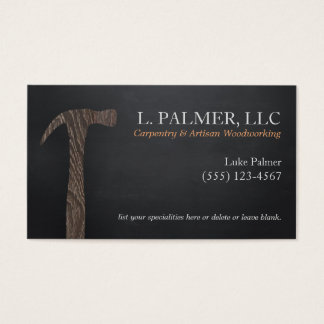 Carpenter Wood Hammer Logo Carpentry