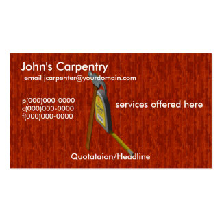 Carpenter Wood Surface Business Cards