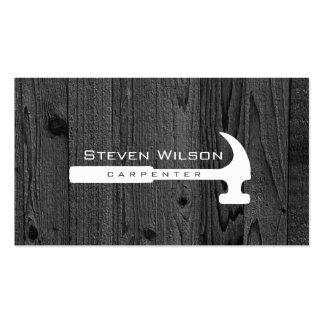 Carpenter Woodworker Professional Tool Wood Pack Of Standard Business Cards