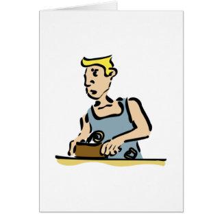 Carpenter Working Greeting Cards