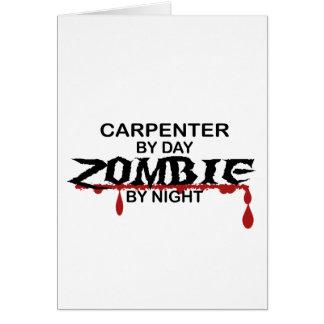 Carpenter Zombie Greeting Card