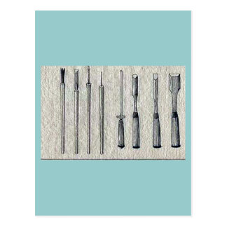Carpenter's chisels Ukiyo-e. Postcard