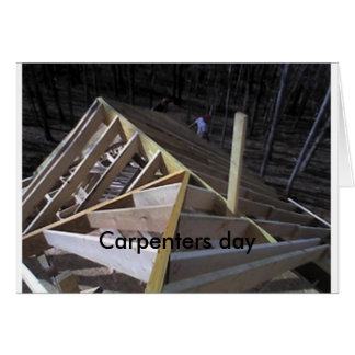 Carpenters day greeting card