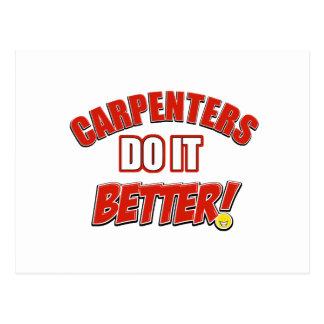 Carpenters do it better post card