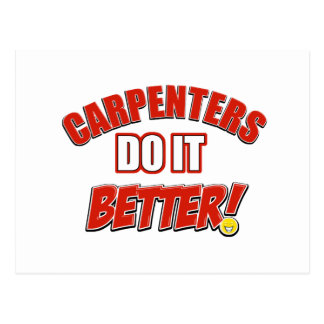 Carpenters do it better postcard