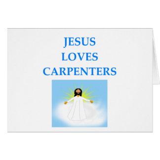 CARPENTERS GREETING CARD