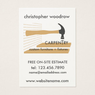 Carpentry Carpenter Woodworker Business Card