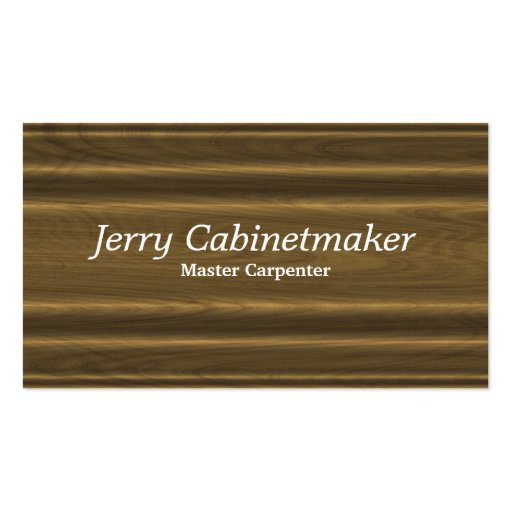 Carpentry or cabinet making business card