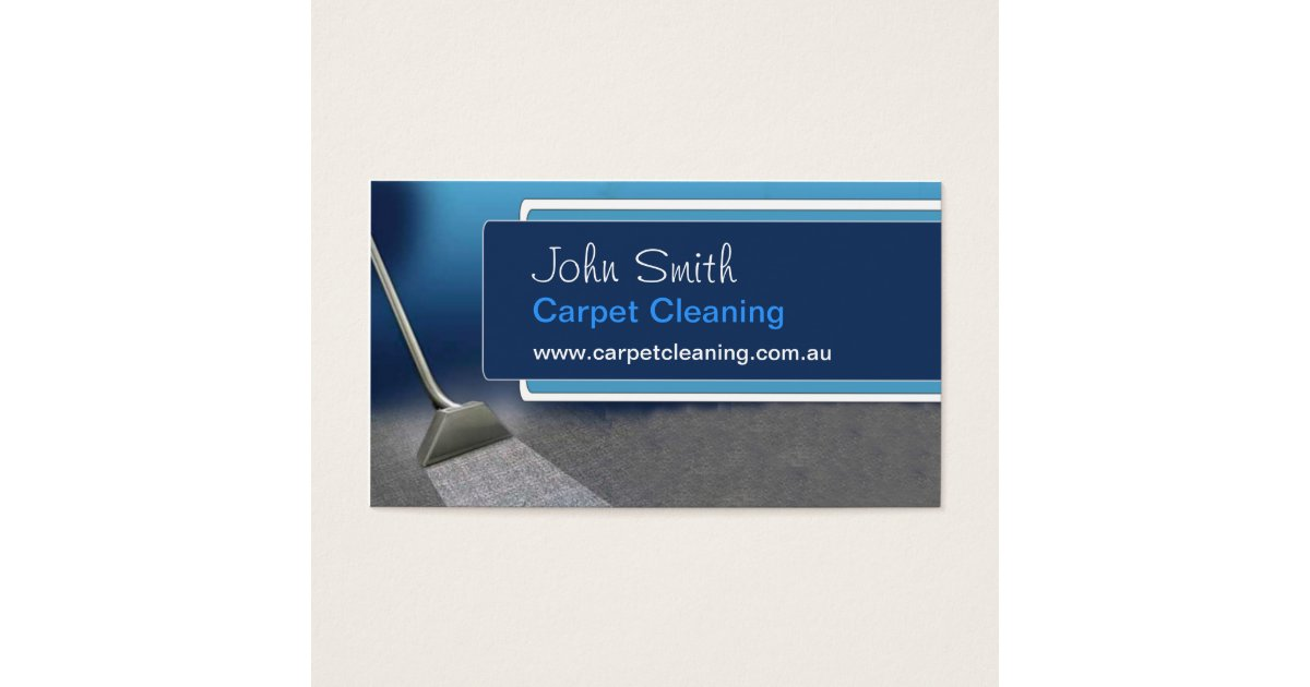 Carpet cleaning business card zazzlecomau for Carpet cleaning business cards