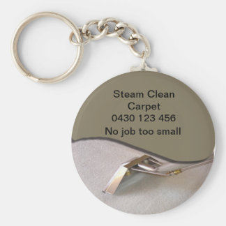 Carpet Cleaning Button Keychain